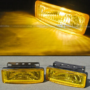 For S10 5 X 1 75 Square Yellow Driving Fog Light Lamp Kit W Switch