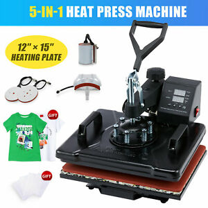 12x15 Combo Heat Press Machine Digital Transfer Sublimation Machine 5 In 1