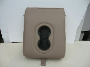 97 02 Expedtion Rear Center Console Armrest Cup Holder Tan Leather Oem
