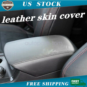 Center Console Armrest Real Leather Cover For Ford Explorer 11 18 Black