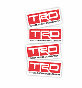 Toyota Racing Development Trd Stickers 4 Pack Size 1 X 2