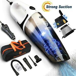 Car Vacuum Corded Kit Cleaner Portable Wet Dry Handheld High Powerful Suction