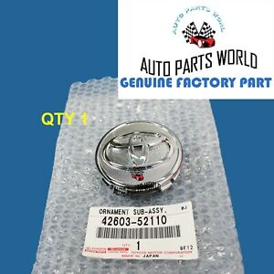 New Genuine Oem Toyota Corolla Prius Yaris Wheel Hub Center Cap 42603 52110