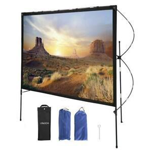 80 16 9 Foldable Projector Screen 4k Projection Transportable Full Set Bag