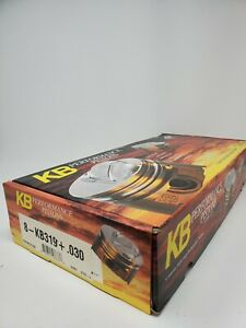 Kb Dish Pistons Kb319030 408w Sb Ford 4 030 Bore 4 Stroke 6 200 Rod Chevy Pin