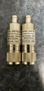 Applied Science And Technology Crystal Detector Lot Of Qty 2