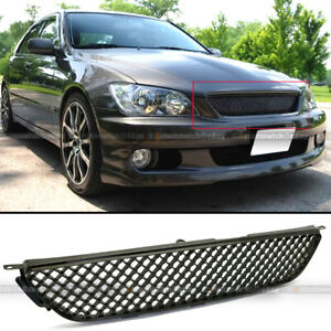 Fit 01 05 Is300 Glossy Black Honeycomb 3d Vip Altezza Hood Mesh Grill Grille