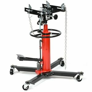 1 2 Ton Transmission Jack 2 Stage Hydraulic 1100 Lbs 360 Swivel For Car Lift