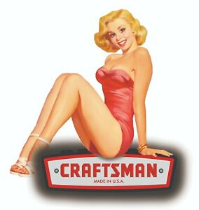 Craftsman Tool Sticker Relax Girl Pinup Sexy Vintage Decal Mechanic Tool Box Usa