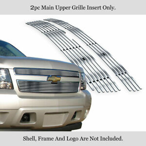 Fits 07 14 Chevy Tahoe Suburban Avalanche Stainless Steel Chrome Billet Grille