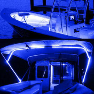 300led 5m Smd Wireless Blue Led Strip Kit For Boat Marine Deck Interior Lighting