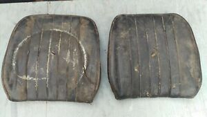 Used Original Porsche 356 Black Front Seat Back Rests Pair