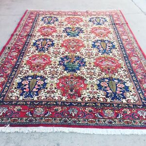 Fine Quality Pictorial Large Wool Hand Knotted Handmade Persiann Rug Carpet