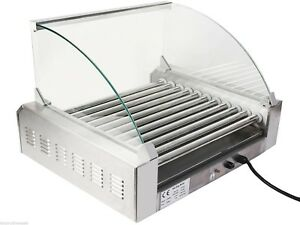 Commercial 30 Hot Dog Maker 11 roller Stainless Electric Sausage Grill Cooker