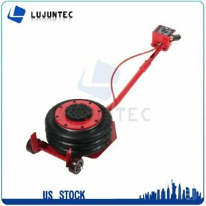 3 Ton Red Tire Shop Triple Bag Air Jack 6600 Lbs Pneumatic Jack Quick Lift Heavy