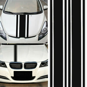 2pcs Universal Car Body Racing Stripe Hood Bonnet Decal Vinyl Graphics Sticker