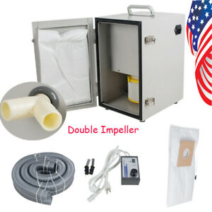 Profession Dental Lab Double Impeller Dust Collector Vacuum Cleaner 550w 120m h