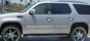 Fender Trim For Cadillac Escalade 07 14 Mirror Polished Stainless Steel Set 6
