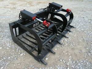 66 Rock Bucket Tooth Grapple Skid Steer Compact Tractor Attachment Ship 179