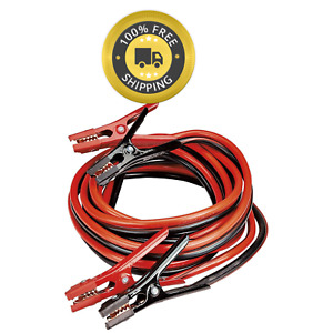 New Heavy Duty 2 Gauge 20 Foot Booster Cables 410 Amp Jumper Cables Copper Coat