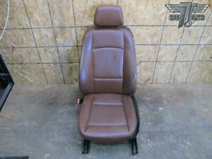 08 12 Bmw E82 Coupe Front Left Driver Side Seat Brown Leather Oem
