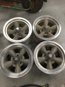 4 Vintage Drag Master 15 Mag Wheels Rims 15x6 Vintage Drag Race 4 3 4 Pattern