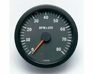Vdo Vision Series Tachometer 0 8 000 4 Dia In Dash Black Face 333160