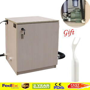 Ups Dental Lab Vacuum Suction System 1500l min Dental Chair Wooden Box Machine