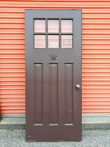 Exterior Wood Door 6 Pane Glass 3 Long Vertical Panels 36 X 83 We Ship
