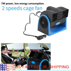 Portable Low Noise Car Auto Electric Mini Air Fan 2speeds Adjustable 12v Dc