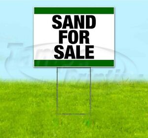 Sand For Sale 18x24 Yard Sign With Stake Corrugated Bandit Business Landscaping