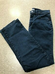 LEE WOMEN'S CLASSIC FIT STRAIGHT LEG JEANS AT THE WAIST DARK WASH 10 MED USED