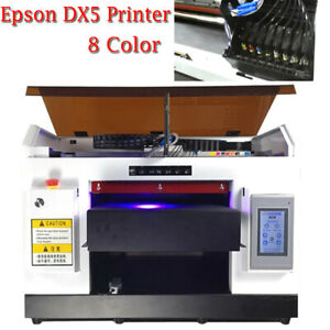 8color Uv Printer Dx5 Print Head For Flat cylindrical Printed Uv Ink software