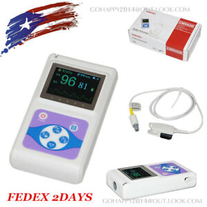 Oled Hand held Pulse Oximeter adult Finger Spo2 Probe Usb Pc Analysis Software