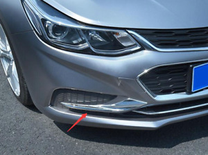 Abs Chrome Front Light Lamp Trim Cover For Chevrolet Cruze 2017 2019