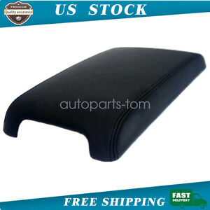 Fits For 2012 2017 Toyota Camry Leather Center Console Lid Armrest Cover Black