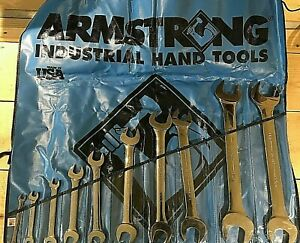 Armstrong 10 Piece 1 4 X 5 16 To 1 3 8 X 1 7 16 Open End Wrench Set