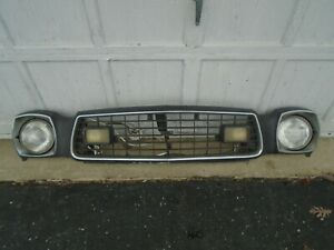 Ford Mustang Ii Header Panel With Grill Surround Lights Trim Bezels 1975 78
