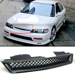 Fit 94 97 Honda Accord Dx Lx Ex Black Honeycomb Mesh Hood Front Grille