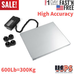 Heavy Duty 300kg Digital Postal Scale Shipping Lcd Electronic Scale Us Plug