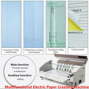 Electric 3 in 1 Scorer Perforator Paper Creasing Machine Scoring Creaser New 18