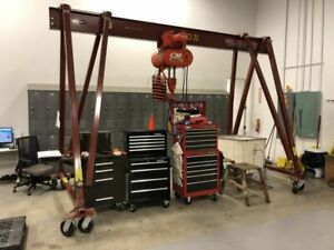 Wallace 5t15 15 Adjustable Portable 5 Ton Gantry Crane
