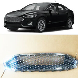 Chrome Mesh Front Bumper Grille Grill Replacement For Ford Fusion 2019 2020
