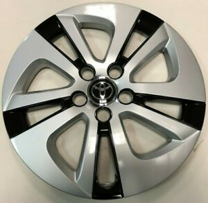 1 New 15 Silver Black Hubcap Wheelcover Fits 2016 2018 Toyota Prius 61180