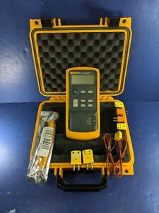 Fluke 714 Thermocouple Calibrator Excellent Screen Protector Hard Case More