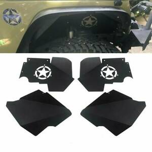 For 2007 2018 Jeep Jk Jku Full Set Aluminum Front Rear Inner Fender Liners