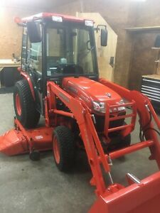 2007 Kubota B3030hsdc Compact Diesel Cab Tractor W Loader 72 Belly Mower