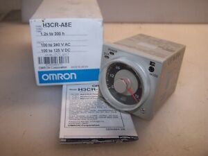 New Omron 1 2s To 300 Hour Solid State Timer 100 To 240 Vac H3cr a8e