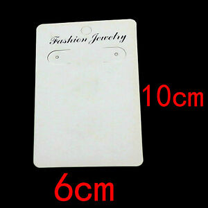 Jewellery Earring Display Cards Large White Necklace Bracelet Earring fashion