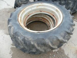 Ford 2n 9n 8n Farm Tractor Rear Hat Style Rims And Tires 11 2 X 28 decent